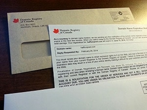 Domain Registry of Canada Letters Demystified