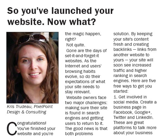 First Article Published on CVBG